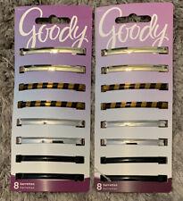 New 2 Packs Goody Classics Barrettes ‑ 16 total #04417