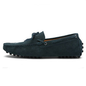 Men's Slip On Patent Leather Loafer Driving Moccasin Casual Flat Boat Shoes Size