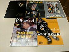 Pittsburgh Penguins Magazine Lot. Mario Lemieux and Badger Bob Johnson