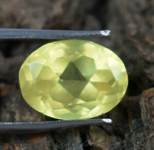 10.75 Ct Oval Yellow Sapphire September Birthstone 100% Natural Certified A74373