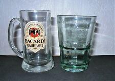 BACARDI  GLASSES X 2  WITH THE BAT LOGO 35 ( his n hers)