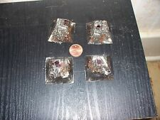 Orgonite® Orgone Energy Small Pyramids Lot of 4 with amethyst and garnet.