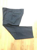 Ermenegildo Zegna Black 100% Wool Flat Front Mens Dress Pants Sz 34x27