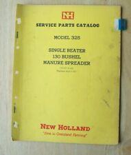 New Holland Model 325 Manure Spreader Service Parts Catalog Manual