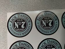 18PCS-STICKERS JACK DANIELS  N7 OLD BRAND  ROUND 18PCS- 35mm-NEW!!!