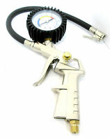 Air Tyre Wheel Inflator with 50mm Dial Pressure Gauge Air Line Compressor AT027