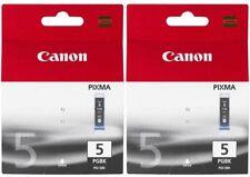 2 x Canon Genuine/Original PGI-5Bk Black Ink Printer Cartridge Pixma PGI5 PGI5BK