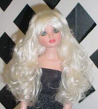 "DOLL Wig, Monique Gold ""Sassy"" Size 4/5 in White Blonde"