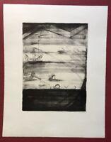 lrmel Droese, Unerlösbar, Lithographie, 1987, handsigniert und datiert