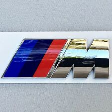 NEW BMW M LOGO FENDER DOOR TRUNK LID ABS NAMEPLATE EMBLEM BADGE EM037