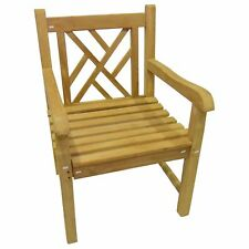 KYOTO BUILT SOLID WOOD WIDE KITCHEN / GARDEN CROSSBACK ARM CHAIR CLICK + COLLECT