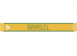 Unused adidas Brazil Scarf National Team Soccer Football Adult Size