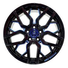 4 GWG NIGMA 18 inch Black Blue Mill Rims 18x9 fits TOYOTA MATRIX XRS 2009 - 2013