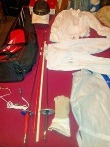 Absolute  Fencing Set Gear Mask, Electric Swords, Jacket, pants ,Gloves, Bag