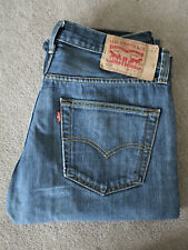 Levi 501 Denim Jeans - Blue - Straight Leg - W32 L30 - Red Label - Button Fly