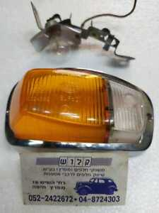 Volvo Amazon P120/121 Amber / Clear Silver Front LH Turn Light Lens + Rim + Base