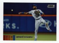 2020 Topps Stadium Club #238 AMED ROSARIO New York Mets PHOTO BASEBALL CARD