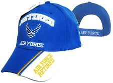 US Air Force Retired Blue Baseball Hat Cap