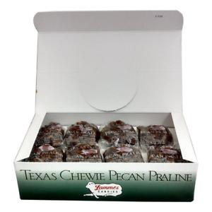Lammes Texas Chewie Pecan Praline Candy 24 Piece Box - Enjoy Texas Pecans With A