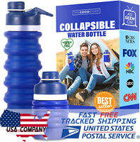 Portable Water Bottles Jug Large for Running Gym 18oz BPA Free Collapsible Pouch