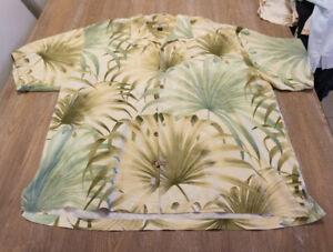 Tommy Bahama XXL Tropical Floral Silk Camp Shirt