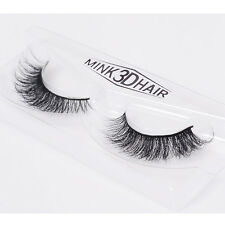 Slender Luxurious 3D False Eyelashes Classic 100% Real Mink Fur Fake Eye Lashes