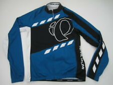 Mens Large Pearl Izumi Elite Thermal LTD Jersey long sleeve cycling blue black