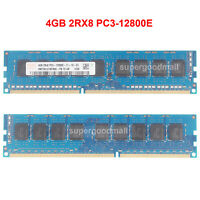 For hynix 4GB 2RX8 PC3-12800E DDR3-1600MHz 1.5V ECC Unbuffered DIMM Memory RAM