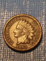 1863 Indian Head Penny.