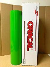 Oracal 651 1 Roll 24 X 50yd 150ft Yellow Green 064 Gloss Sign Vinyl
