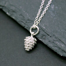 Silver Caledonian Winter Acorn Pine Cone Silver Necklace Pendant 925 Sterling