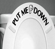 Home Decor PUT ME DOWN Decal Bathroom Toilet Seat Sign Reminder Quote Word Lette