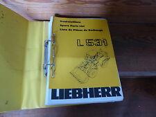 Original Ersatzteilliste zum Liebherr Radlader L 531 von 1990