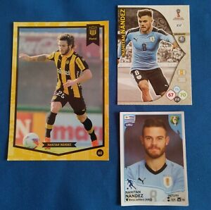 Trading cards of the great footballer NAHITAN NANDEZ ROOKIE and more