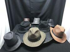 Lot of 8 Men's Hats Wide Rim Fedora Hats