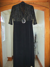 BNWT - ANN HARVEY MAXI DRESS SIZE 20 - GOLD SPARKLY LACE - SEQUINS - WEDDING
