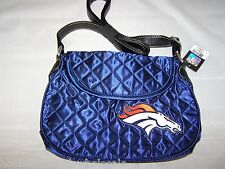 Denver Broncos Quilted Saddlebag Purse Handbag