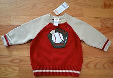 NEW! NWT Gymboree Boy's Sz 6-12 Months Baseball Sweater