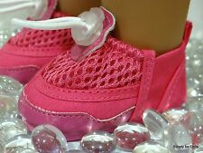 """**SALE** HOT PINK Mesh """"Water"""" DOLL Sports SHOES fits 18"""" AMERICAN GIRL DOLL"""