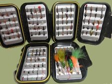 Trout Flies, 130 Fishing Flies, 3 Box Set, Wets, Dries, Buzzers, Nymphs and More