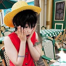 One Piece Monkey D. Luffy Anime Short Black Cosplay Hair Wig