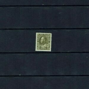 Canada: 1911 King George V. 'Admiral' 20c olive green,  Mint lightly hinged