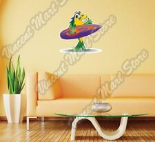 "Fish Cartoon Surfer Dude Surf Windsurfing Wall Sticker Room Interior Decor 22"""