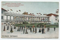 1905 Lewis & Clark Expo Portland OR colonade Entrance postcard [y4441]