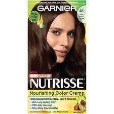 Garnier Nutrisse Nourishing Hair Color Creme, 41 Dark Nude Brown
