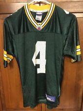Reebok Green Bay Packers Brett Favre # 4 Jersey Green Boys L 14 16