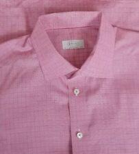 Eton Contemporary Men's Cotton Long Sleeve Dress Shirt 17.5-37 Pink & Blue Check