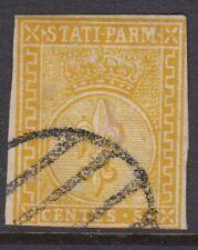 PARMA (ITALIA):1853 5C ARANCIONE-GIALLO Imperf SG 11 USATO