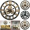 EXTRA LARGE ROMAN WALL CLOCK 40/60CM NUMERALS OPEN FACE HOME GARDEN ROUND