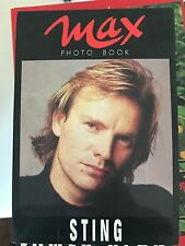 MAX PHOTO BOOK, STING - ALLEGATO AL NUMERO DI MARZO 1991